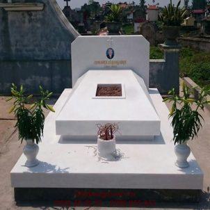 Mẫu mộ đá trắng L01