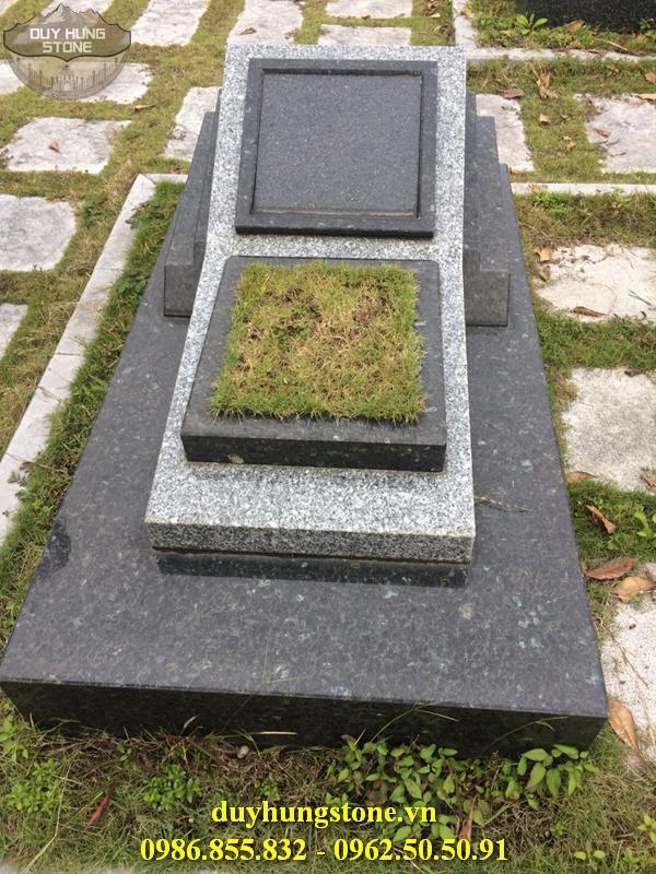 Mộ đá Granite nguyên khối cao cấp 19