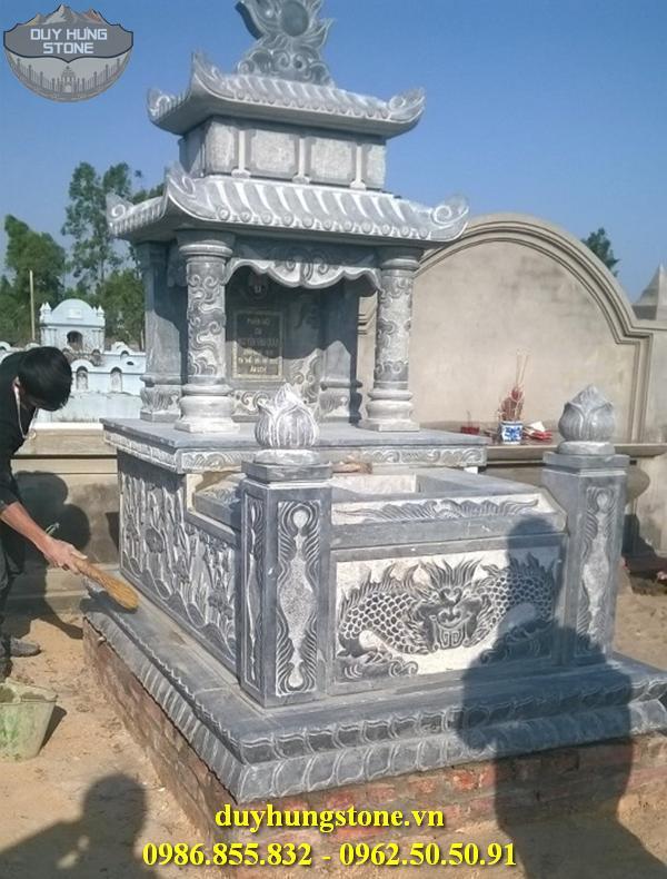 Mẫu mộ đá hai mái ninh bình 2