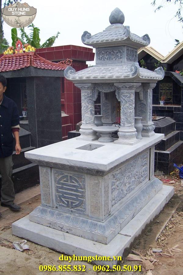 Mẫu mộ đá hai mái ninh bình 22