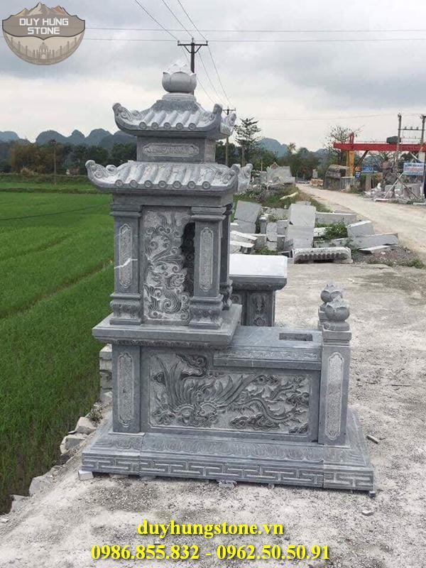 Mẫu mộ đá hai mái ninh bình 48