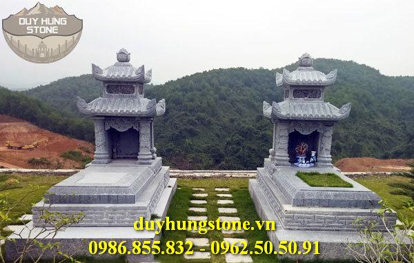 Mẫu mộ đá hai mái ninh bình 9