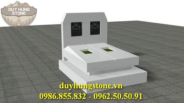 Mộ đá trắng cao cấp 6