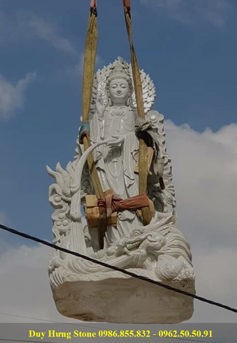 Tượng Phật Quan Âm Bồ Tát bằng đá