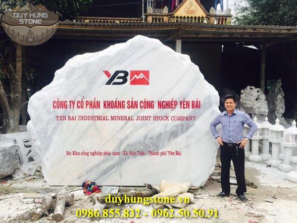thiết kế biển hiệu công ty bằng đá nguyên khối đẹp 6