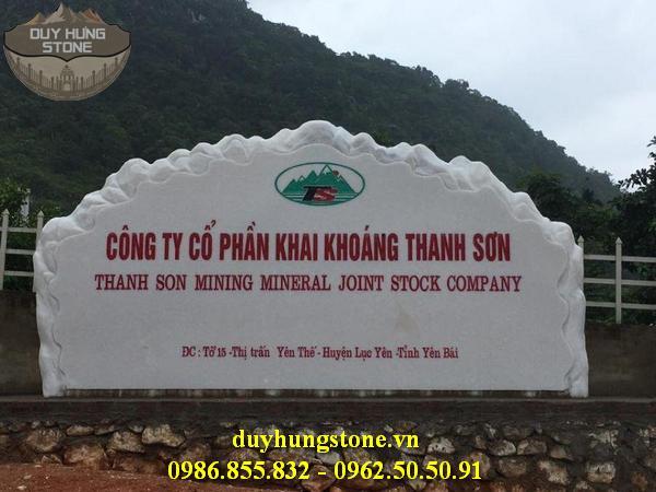 thiết kế biển hiệu công ty bằng đá nguyên khối đẹp 9