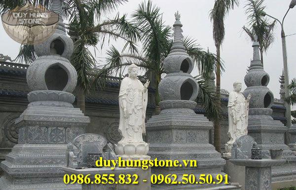 Mộ đá hình tháp phật giáo đẹp 10