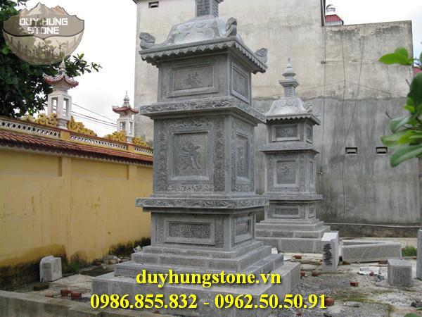 Mộ đá hình tháp phật giáo đẹp 11