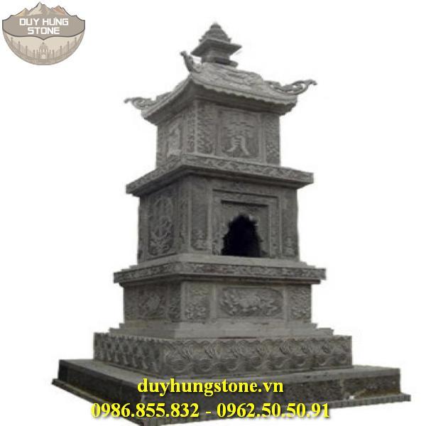 Mộ đá hình tháp phật giáo đẹp 14
