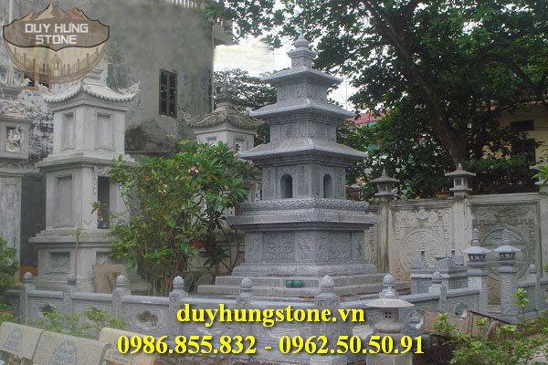 Mộ đá hình tháp phật giáo đẹp 16