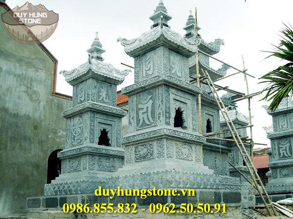 Mộ đá hình tháp phật giáo đẹp 17