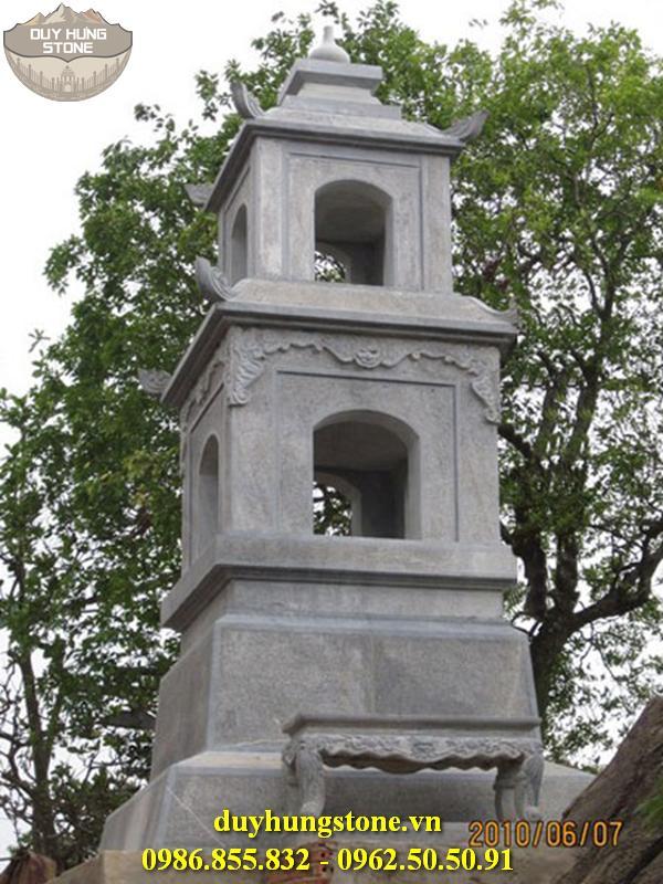 Mộ đá hình tháp phật giáo đẹp 19