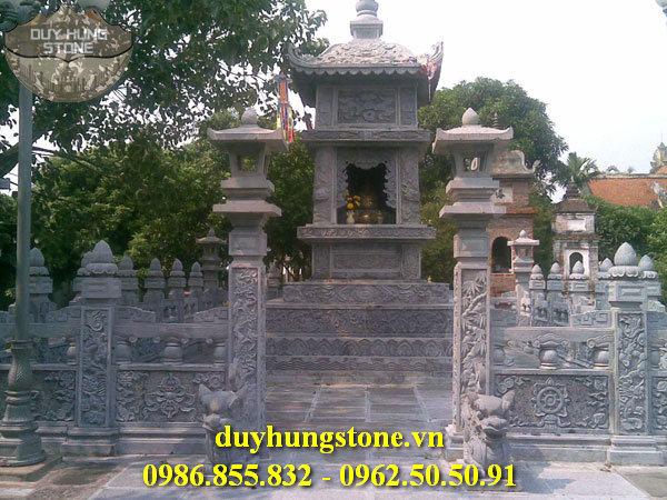 Mộ đá hình tháp phật giáo đẹp 2