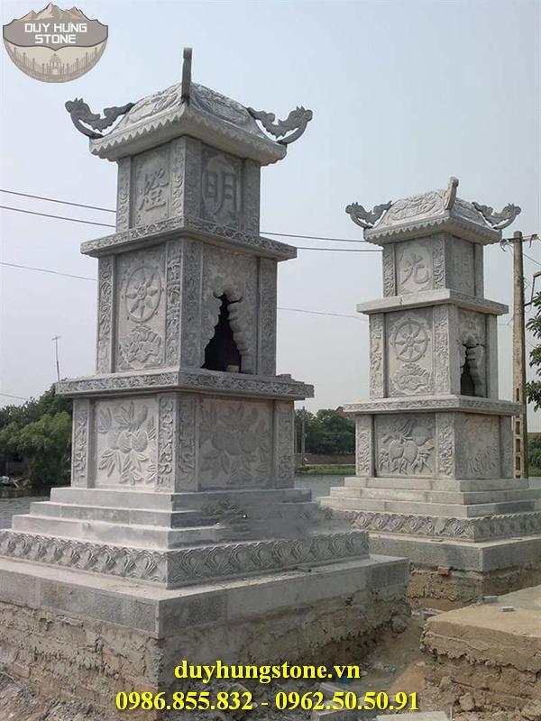 Mộ đá hình tháp phật giáo đẹp 23