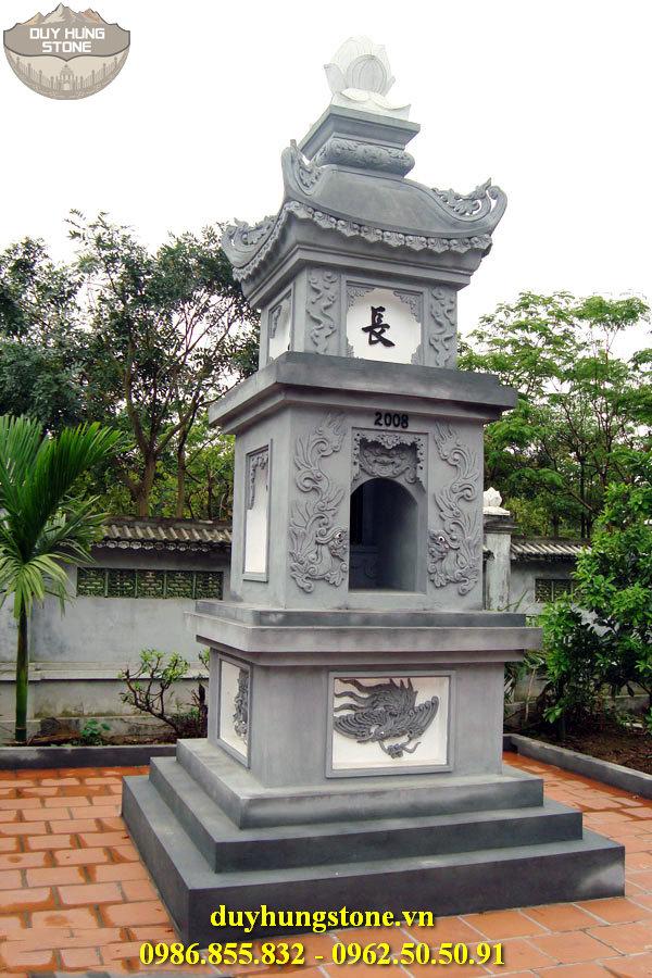 Mộ đá hình tháp phật giáo đẹp 24