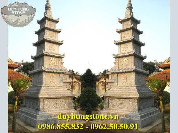 Mộ đá hình tháp phật giáo đẹp 29