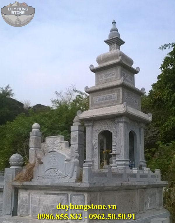 Mộ đá hình tháp phật giáo đẹp 3