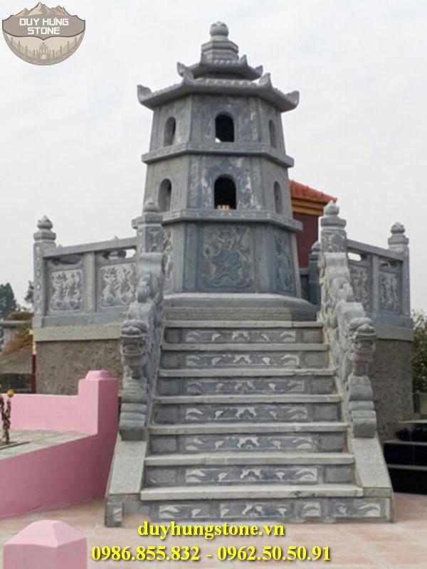 Mộ đá hình tháp phật giáo đẹp 31