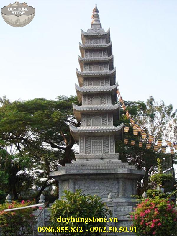Mộ đá hình tháp phật giáo đẹp 32