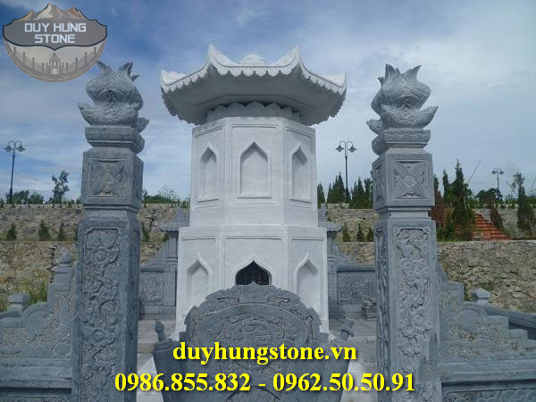 Mộ đá hình tháp phật giáo đẹp 33