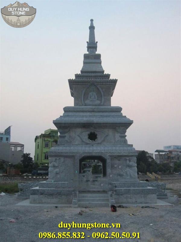Mộ đá hình tháp phật giáo đẹp 34