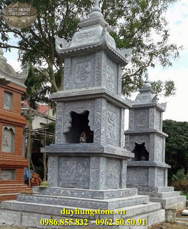 Mộ đá hình tháp phật giáo đẹp 4