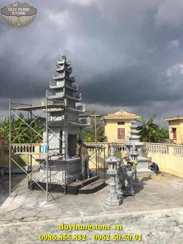Mộ đá hình tháp phật giáo đẹp 5