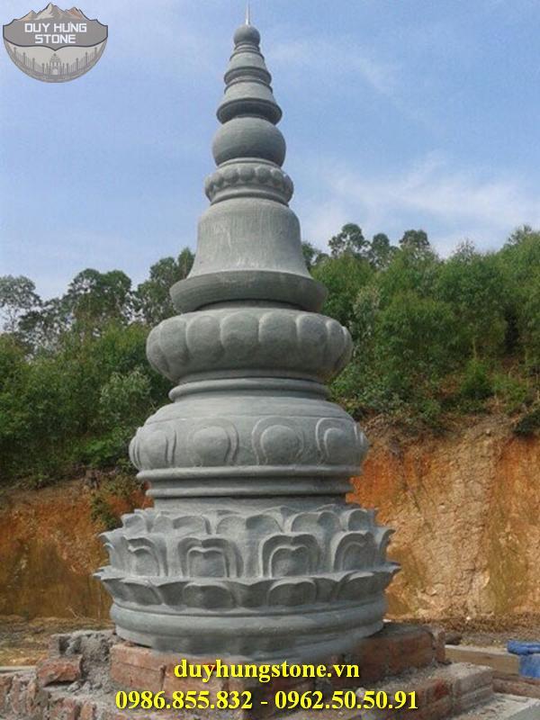 Mộ đá hình tháp phật giáo đẹp 7