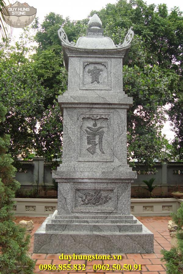 Mộ đá hình tháp phật giáo đẹp 9