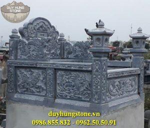 Mẫu mộ quây đá khối đẹp ninh binh 14