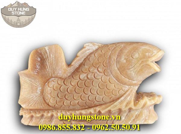 Tượng cá chép bằng đá 14