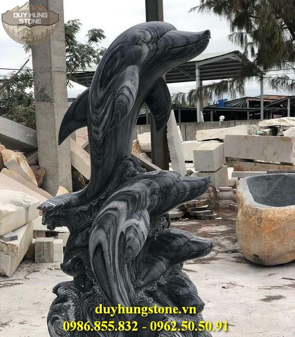 Tượng cá heo bằng đá 14