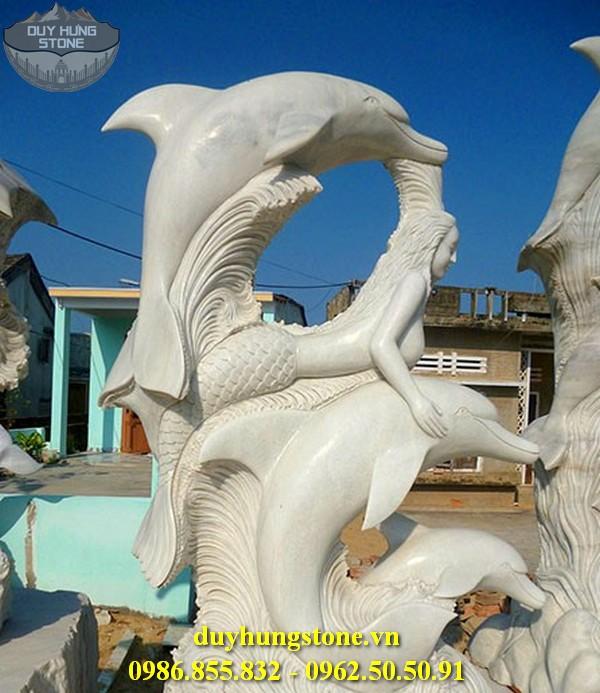 Tượng cá heo bằng đá 5