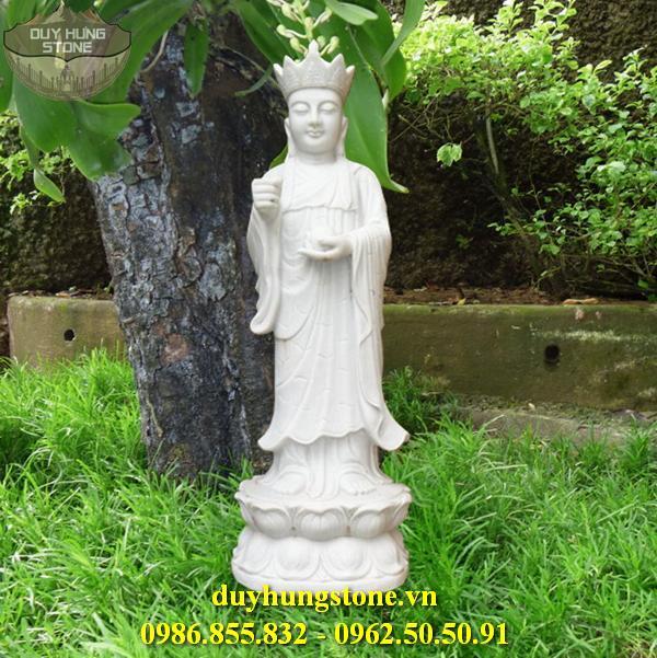 Tượng Phật Địa Tạng Bồ Tát bằng đá non nước đà nẵng nguyên khối 1