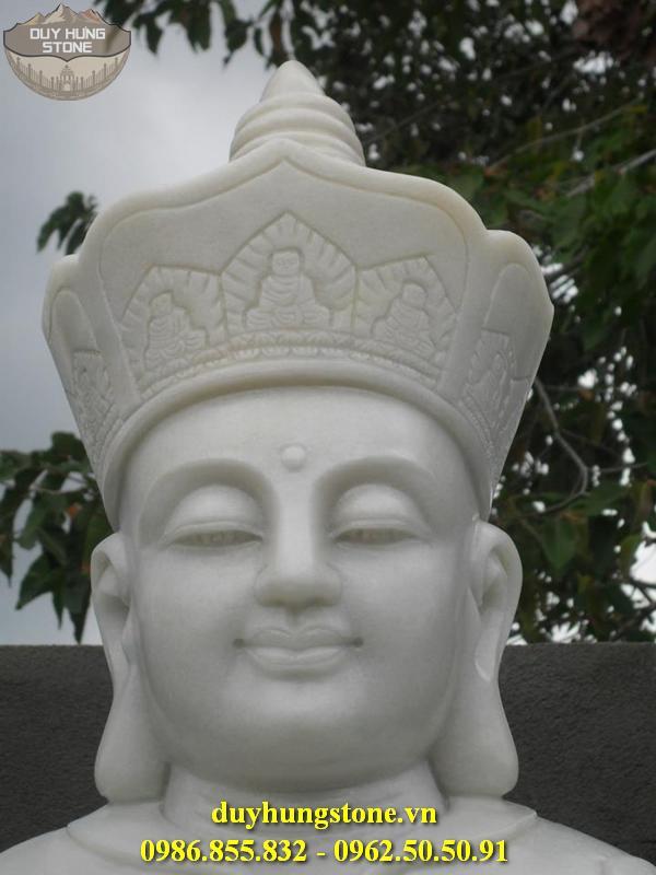 Tượng Phật Địa Tạng Bồ Tát bằng đá non nước đà nẵng nguyên khối 12