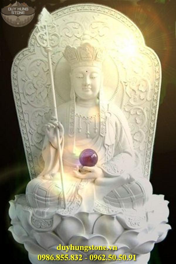 Tượng Phật Địa Tạng Bồ Tát bằng đá non nước đà nẵng nguyên khối 13