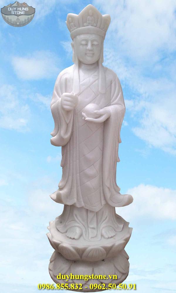 Tượng Phật Địa Tạng Bồ Tát bằng đá non nước đà nẵng nguyên khối 15