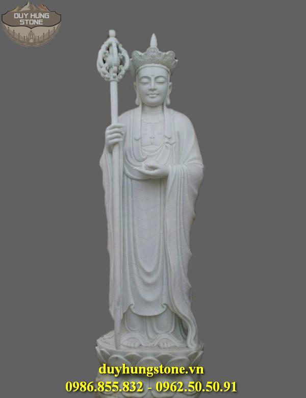 Tượng Phật Địa Tạng Bồ Tát bằng đá non nước đà nẵng nguyên khối 17