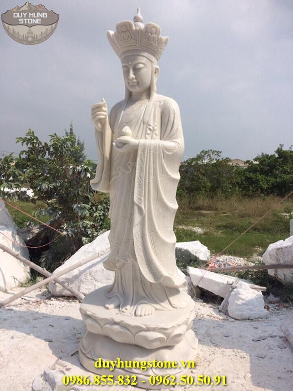 Tượng Phật Địa Tạng Bồ Tát bằng đá non nước đà nẵng nguyên khối 18