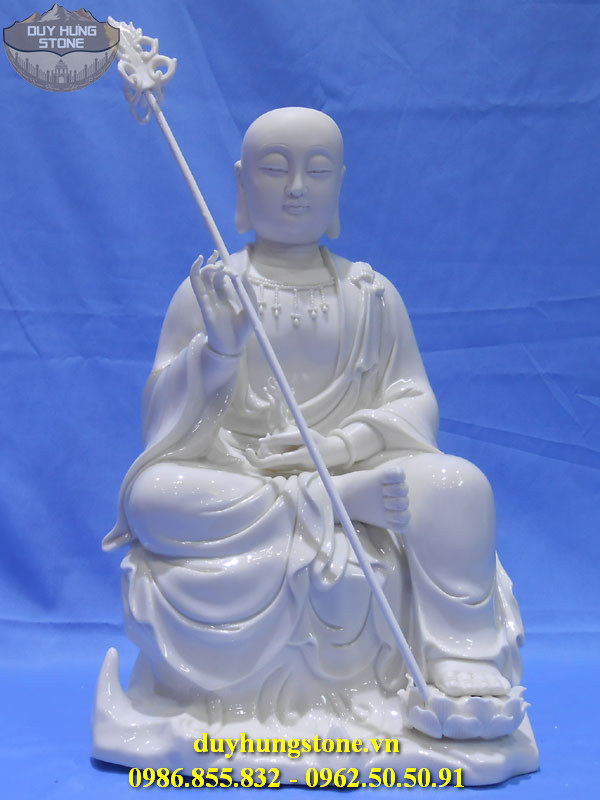 Tượng Phật Địa Tạng Bồ Tát bằng đá non nước đà nẵng nguyên khối 19
