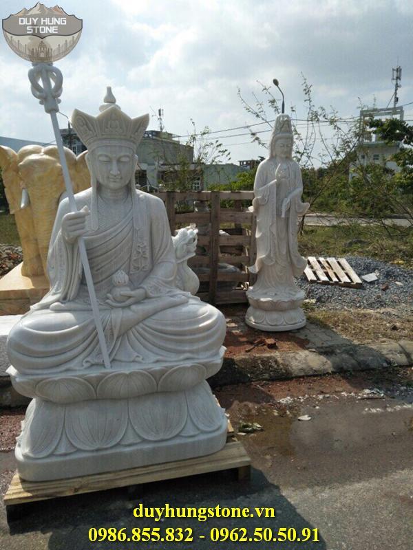 Tượng Phật Địa Tạng Bồ Tát bằng đá non nước đà nẵng nguyên khối 20