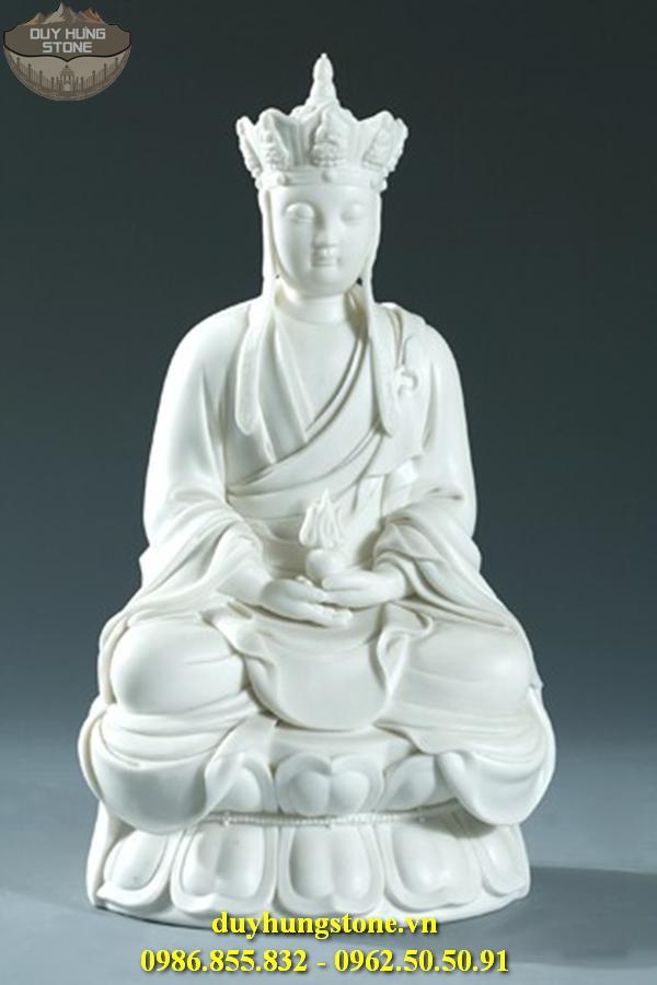 Tượng Phật Địa Tạng Bồ Tát bằng đá non nước đà nẵng nguyên khối 23