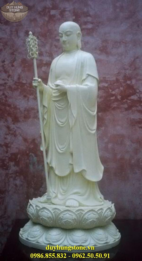 Tượng Phật Địa Tạng Bồ Tát bằng đá non nước đà nẵng nguyên khối 24