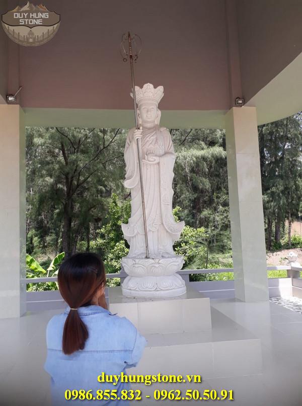 Tượng Phật Địa Tạng Bồ Tát bằng đá non nước đà nẵng nguyên khối 25