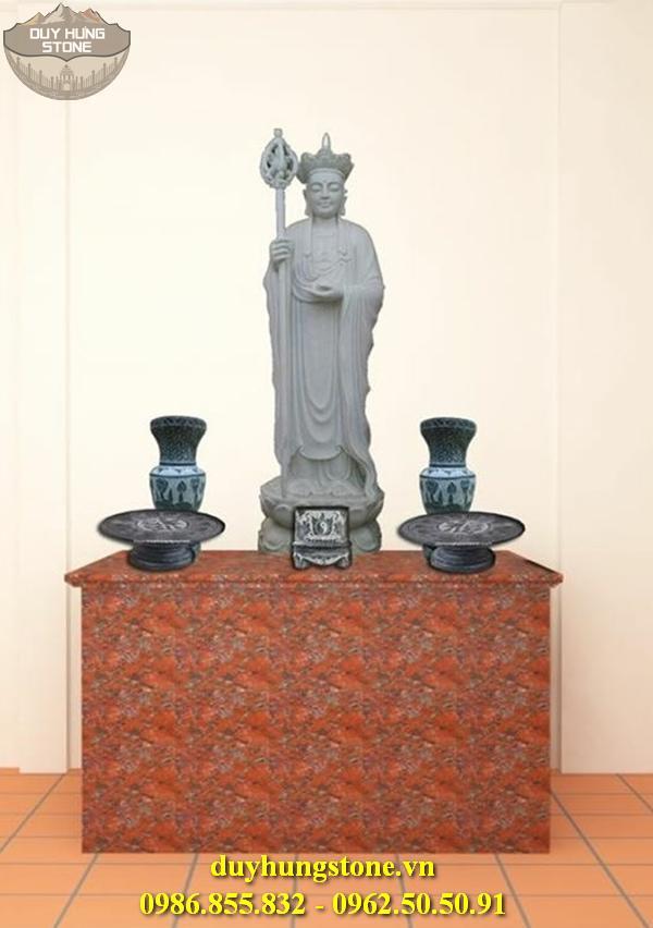 Tượng Phật Địa Tạng Bồ Tát bằng đá non nước đà nẵng nguyên khối 4