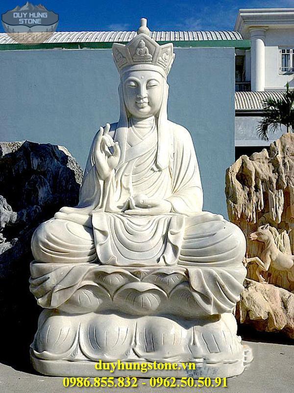 Tượng Phật Địa Tạng Bồ Tát bằng đá non nước đà nẵng nguyên khối 5