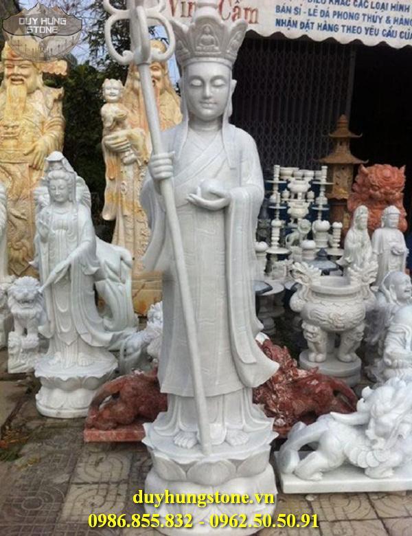 Tượng Phật Địa Tạng Bồ Tát bằng đá non nước đà nẵng nguyên khối 6