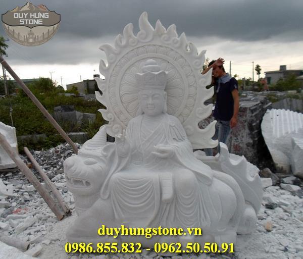 Tượng Phật Địa Tạng Bồ Tát bằng đá non nước đà nẵng nguyên khối 7