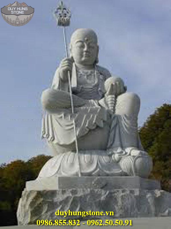 Tượng Phật Địa Tạng Bồ Tát bằng đá non nước đà nẵng nguyên khối 8