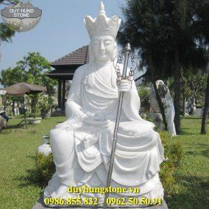 Tượng Phật Địa Tạng Bồ Tát bằng đá non nước đà nẵng nguyên khối 9